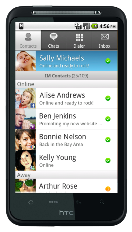 Nimbuzz Android Contact List.png